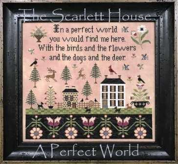 The Scarlett House - A Perfect World-The Scarlett House - A Perfect World, park, dogs, cross stitch