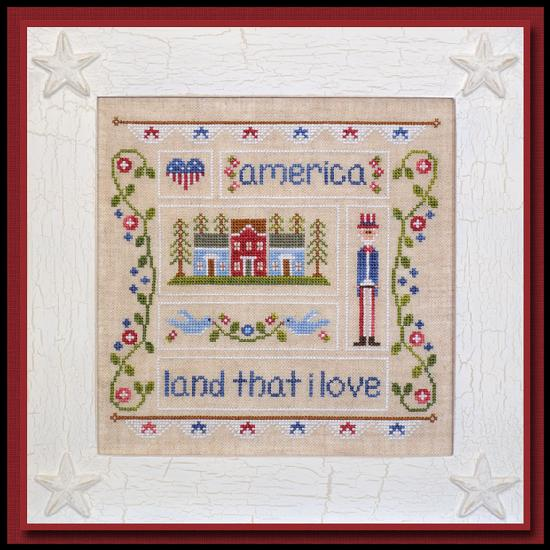 Country Cottage Needleworks - Land That I Love-Country Cottage Needleworks - Land That I Love, American, 4th of July