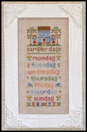 Country Cottage Needleworks - Sampler Days-Country Cottage Needleworks, Sampler Days, stitching days,  Cross Stitch Pattern