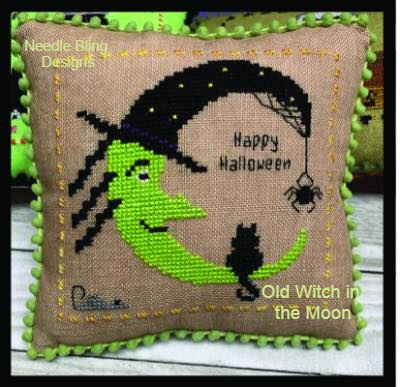 Needle Bling Designs - Halloween Mini Series - Old Woman in the Moon