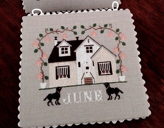 Twin Peak Primitives - I'll Be Home Mystery Series - Part 006 - June Cottage-Twin Peak Primitives - Ill Be Home Mystery Series - Part 06 - June Cottage, weddings, calendar, cross stitch