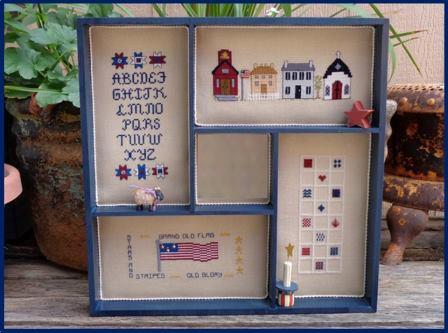 Faithwurks Designs - Americana Shadowbox Mystery Series - Part 4 Red, White & Blue-Faithwurks Designs - Americana Shadowbox Mystery Series - Part 4 Red, White  Blue