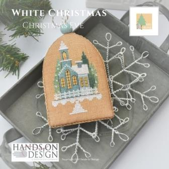 Hands On Design - White Christmas Part 2 - Christmas Eve-Hands On Design - White Christmas Part 2 - Christmas Eve, Church, midnight service, cross stitch