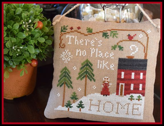 Little House Needleworks - No Place Like Home-Little House Needleworks - No Place Like Home, house, cottage, winter, snow, cross stitch,