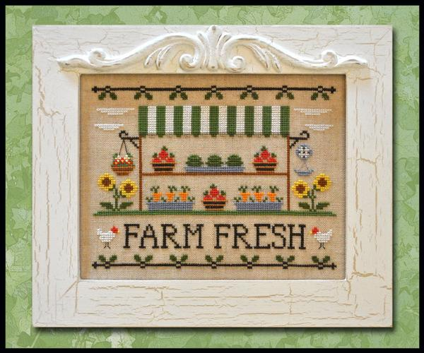 Country Cottage Needleworks - Farm Fresh - Cross Stitch Pattern-Country Cottage Needleworks - Farm Fresh - Cross Stitch Pattern