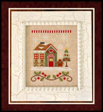 Country Cottage Needleworks - Santa's Village - Part 10 - Gingerbread Emporium-Country Cottage Needleworks, Santas Village, Gingerbread Emporium, gingerbread man, Christmas,house, Cross Stitch Pattern