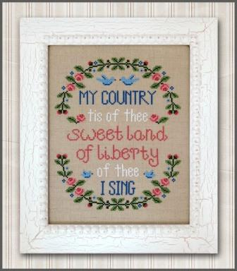 Country Cottage Needleworks - My Country-Country Cottage Needleworks - My Country, USA, Patriotic, America, cross stitch, sampler