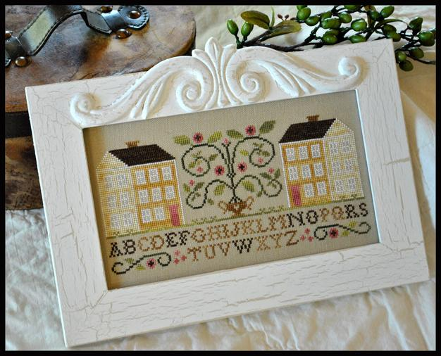 Little House Needleworks - Two Yellow Houses-Little House Needleworks - Two Yellow Houses - Cross Stitch Chart
