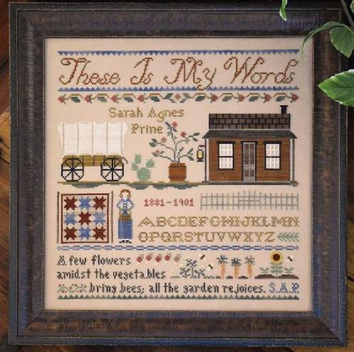 Little House Needleworks - These Is My Words-Little House Needleworks - These Is My Words,books, Nancy Turner, western, cross stitch