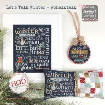 Hands On Design - Let's Talk Winter-Hands On Design - Lets Talk Winter, snow, snowflakes,  snow globe, snowman, sampler, pin cushion, cross stitch, ornament,