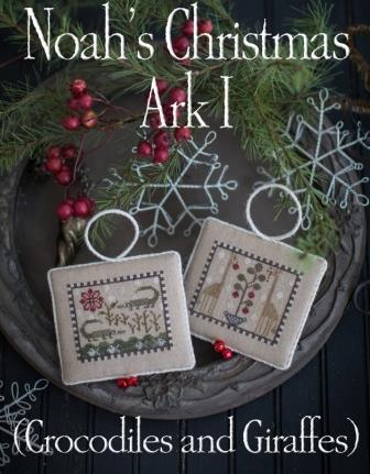 Plum Street Samplers - Noah's Christmas Ark 1-Plum Street Samplers - Noahs Christmas Ark 1, Bible, flood, animals, God. Christmas ornaments, cross stitch