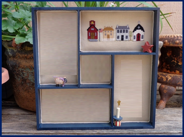 Faithwurks Designs - Americana Shadowbox Mystery Series - Part 1 Colonial Row