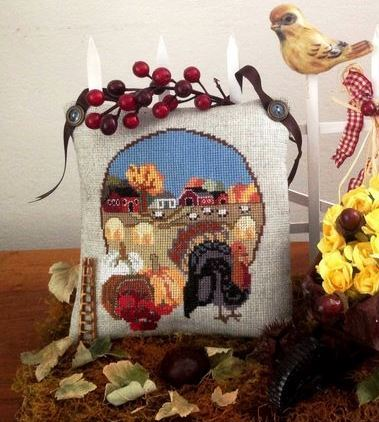 Twin Peak Primitives -  Fall in Vermont-Twin Peak Primitives -  Fall in Vermont, AUTUMN, CROSS STITCH