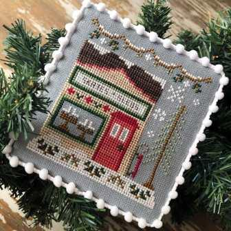 Country Cottage Needleworks - Snow Village - Part 2 Skate and Sled Shop-Country Cottage Needleworks - Snow Village - Part 2 Skate and Sled Shop, snow, ice skating,