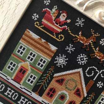 Country Cottage Needleworks - Away We Go-Country Cottage Needleworks - Away We Go, Christmas, Santa Claus, reindeer, cross stitch