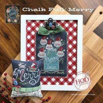 Hands On Design - Chalk Full - Merry-Hands On Design - Chalk Full - Merry - Christmas, mason jars, Santa Claus, cross stitch