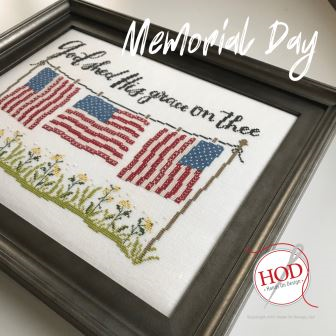 Hands On Design - Memorial Day-Hands On Design - Memorial Day, patriotic, America, American flag, USA, cross stitch
