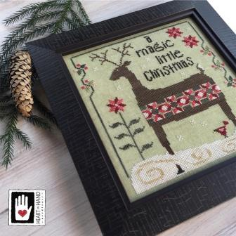 Heart in Hand Needleart - Patchwork Deer-Heart in Hand Needleart - Patchwork Deer, Reindeer, quilts, cross stitch sewing,