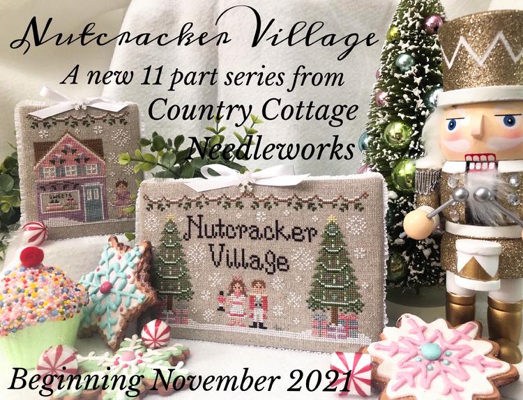 Country Cottage Needleworks - Nutcracker Village 01 - Clara and the Prince-Country Cottage Needleworks  - Nutcracker Village 01 - Clara and the Prince, Christmas, ballet, dancing, ornaments, cross stitch, soldiers,