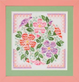Glendon Place - Desert Rose-Glendon Place - Desert Rose, flowers, dry, cactus, cross stitch