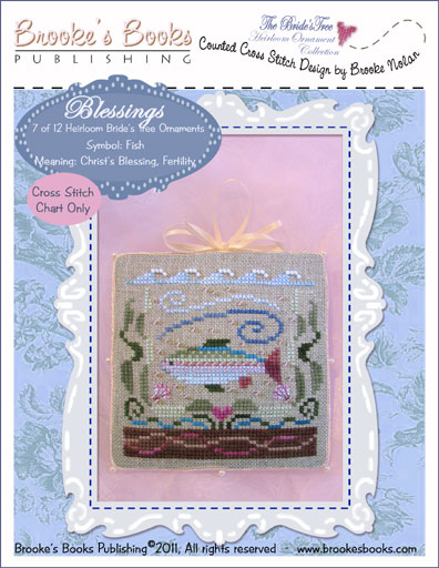 Brooke's Books - The Brides Tree Heirloom Ornament Collection 007 of 12 BLESSINGS - Cross Stitch Pattern-Brookes Books - The Brides Tree Heirloom Ornament Collection 7 of 12 BLESSINGS - Cross Stitch Pattern