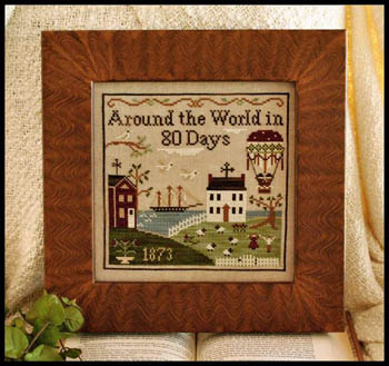 Little House Needleworks - Around The World In 80 Days-Little House Needleworks - Around The World In 80 Days - Cross Stitch Pattern,