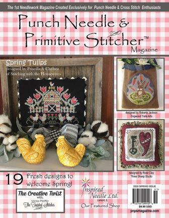 Punch Needle & Primitive Stitcher Magazine 2020 - Issue 1 - Spring-Punch Needle  Primitive Stitcher Magazine 2020 - Issue 1 - Spring, bunny, cross stitch, patterns, folk,