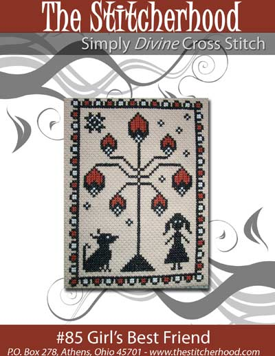 The Stitcherhood - Girl's Best Friend - Cross Stitch Pattern-The Stitcherhood - Girl's Best Friend - Cross Stitch Pattern
