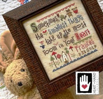 Heart in Hand Needleart - Smallest Things Sampler-Heart in Hand Needleart - Smallest Things Sampler,  baby samplers. love, children, grandchildren, cross stitch
