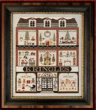Little House Needleworks - Kringles - Nashville Exclusive!-Little House Needleworks - Kringles, general store, Christmas, old time, hometown, cross stitch