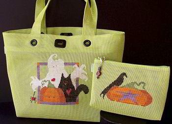 SamSarah Design Studio - Halloween Treat Tote - Cross Stitch Pattern