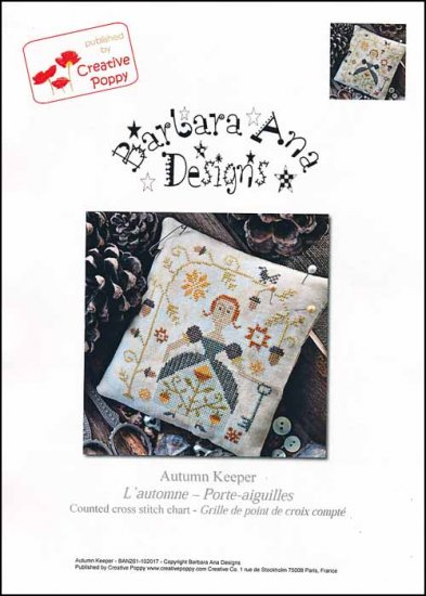 Barbara Ana Designs - Autumn Keeper-Barbara Ana Designs - Autumn Keeper, fall, lady, autumn, cross stitch