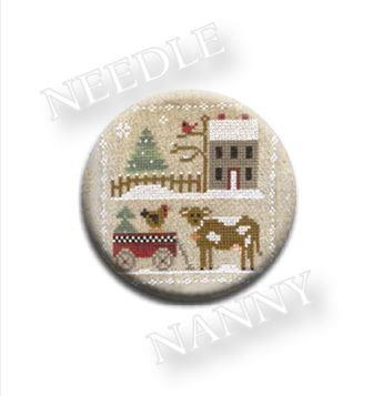 Stitch Dots - Little House Needleworks - Farmhouse Christmas - Dairy Darlin' Needle Nanny-Stitch Dots - Farmhouse Christmas - Dairy Darlin Needle Nanny by Little House Needleworks, farm, cows, milk, dairy farm, cross stitch