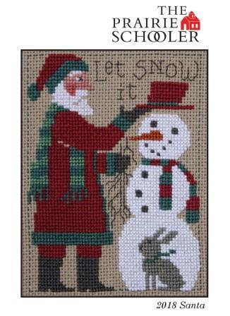 Prairie Schooler - 2018 Santa-Prairie Schooler - 2018 Santa,  Santa Claus, Christmas, snowman, ornament