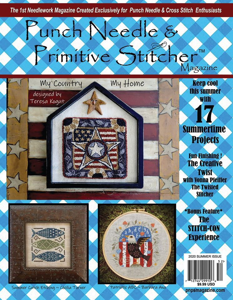 Punch Needle & Primitive Stitcher Magazine 2020 - Issue 2 - Summer-Punch Needle  Primitive Stitcher Magazine 2020 - Issue 2 - Summer, cross stitch,