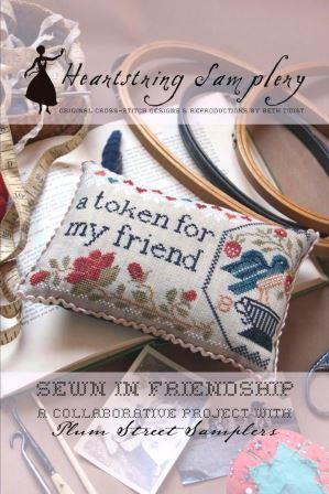 Heartstring Samplery - Sewn in Friendship-Heartstring Samplery - Sewn in Friendship, pin cushion, birds, Plum Street, cross stitch