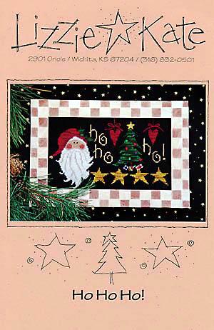 Lizzie Kate - Ho Ho Ho-Lizzie Kate - Ho Ho Ho, Christmas, Santa Claus, Christmas tree, gifts, cross stitch