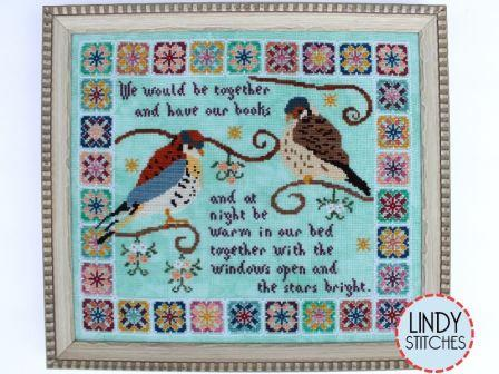 Lindy Stitches - Stars Bright-Lindy Stitches - Stars Bright, birds, books, reading, cross stitch