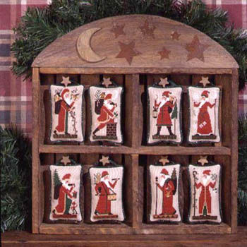 Prairie Schooler - Old World Santa's-Prairie Schooler - Old World Santas, Santa Claus, Christmas, ornaments, cross stitch