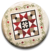 Stitch Dots - Farmhouse Christmas - Grandma's Quilt Needle Nanny by Little House Needleworks-Stitch Dots - Farmhouse Christmas -  Grandmas Quilt Needle Nanny by Little House Needleworks, magnet, christmas, cross stitch, needles,