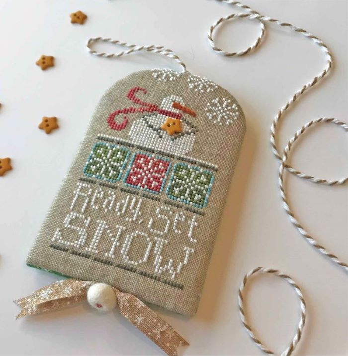 Hands On Design - Ready, Set, Snow-Hands On Design - Ready, Set, Snow, snowman, winter, snowflakes, cross stitch