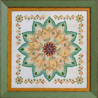 Glendon Place - Helianthus (The Sunflower Mandala)-Glendon Place - Helianthus The Sunflower Mandala, flowers, cross stitch