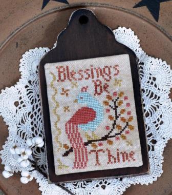 Annie Beez Folk Art - Blessings be Thine-Annie Beez Folk Art - Blessings be Thine, bird, cross stitch, prayers, hope, gracious, expo