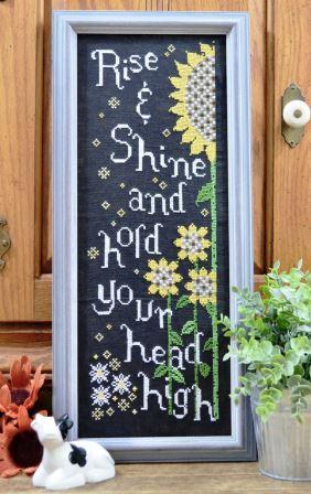 Annie Beez Folk Art - Advice From A Sunflower-Annie Beez Folk Art - Advice From A Sunflower, fall, flowers, positive, cross stitch, expo,
