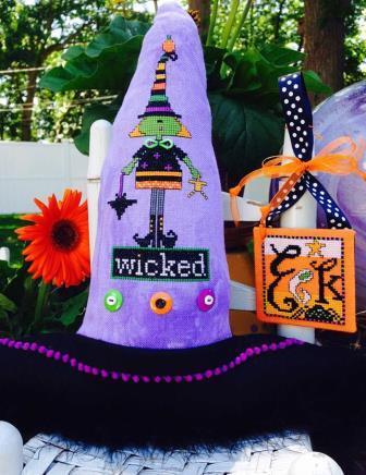 Amy Bruecken Designs - Wicked Witch-Amy Bruecken Designs -Wicked Witch, Halloween, trick or treat, witch, cross stitch