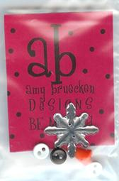 Amy Bruecken Designs - Be Merry - Embellishments-Amy Bruecken Designs, star, buttons, Be Merry, Embellishments