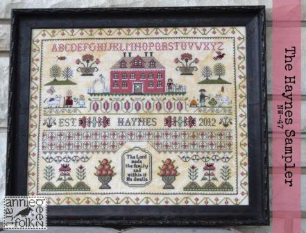 Annie Beez Folk Art - The Haynes Sampler-Annie Beez Folk Art - The Haynes Sampler, FAMILY, historic,