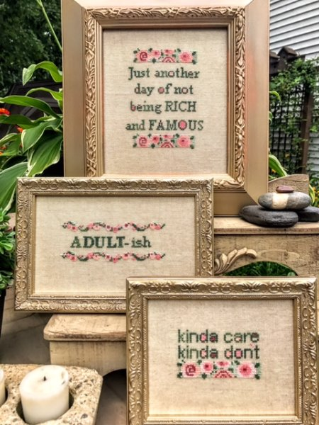 Amy Bruecken Designs - ADULTish-Amy Bruecken Designs - ADULTish, childish, young at heart, sayings. cross stitch