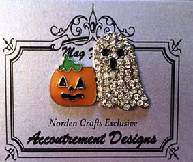 Accoutrement Designs - Ghosty and Pumpkin Limited Edition-Accoutrement Designs - Ghosty and Pumpkin Limited Edition, needle nanny, ghost, pumpkin, Halloween, cross stitch,