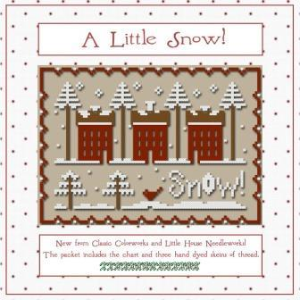 Little House Needleworks - A Little Snow Thread Pack-Little House Needleworks - A Little Snow Thread Pack, home, snow, Christmas, Classic Colorworks floss, cross stitch